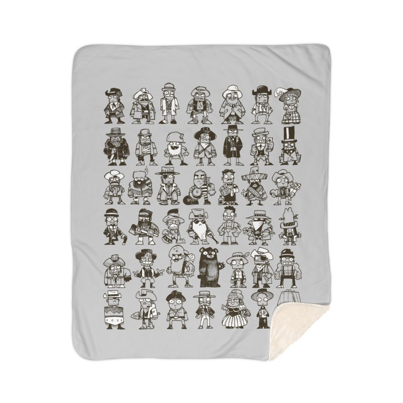 Mostly Cowboys Home Sherpa Blanket Blanket by Kyle Ferrin's Artist Shop