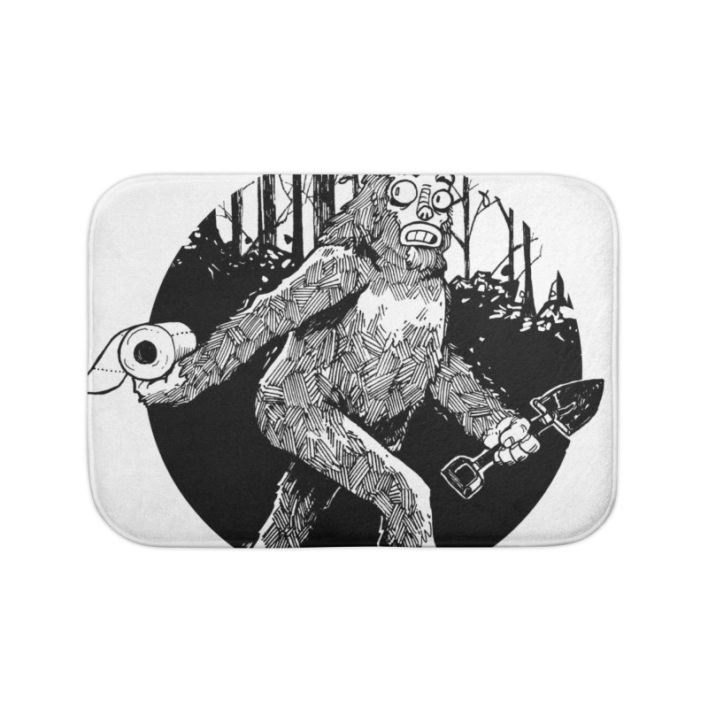 Sasquatch Secret Home Bath Mat by Kyle Ferrin's Artist Shop