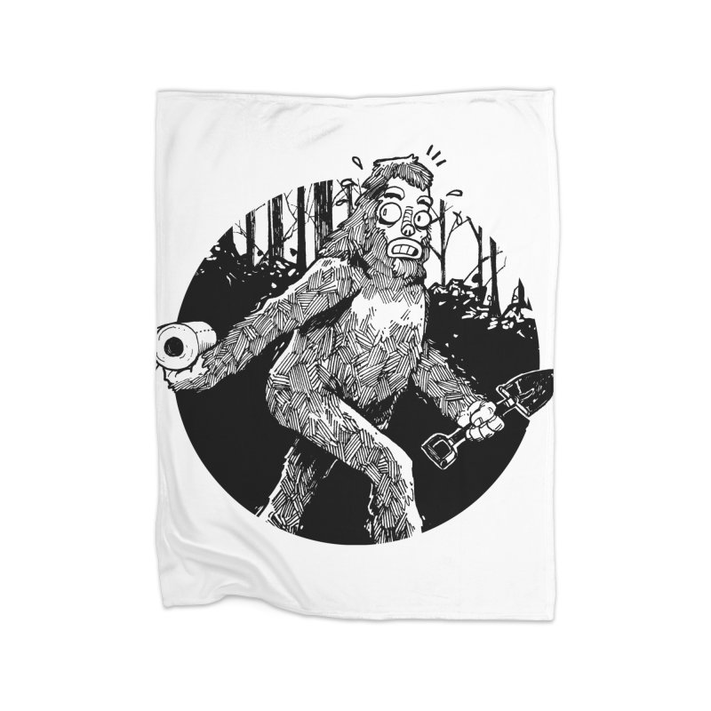 Sasquatch Secret Home Fleece Blanket Blanket by Kyle Ferrin's Artist Shop