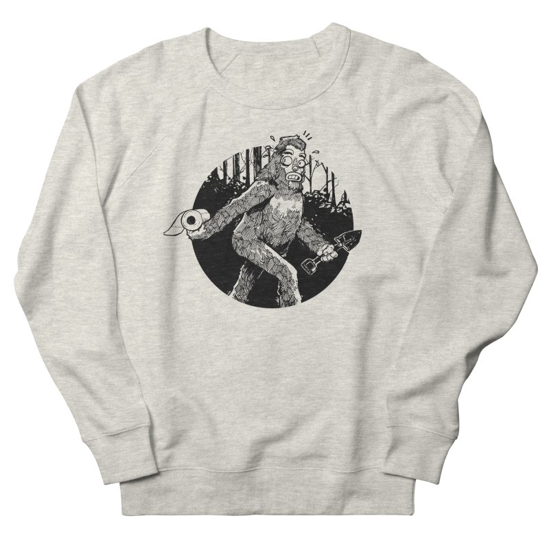 Sasquatch Secret Women's French Terry Sweatshirt by Kyle Ferrin's Artist Shop