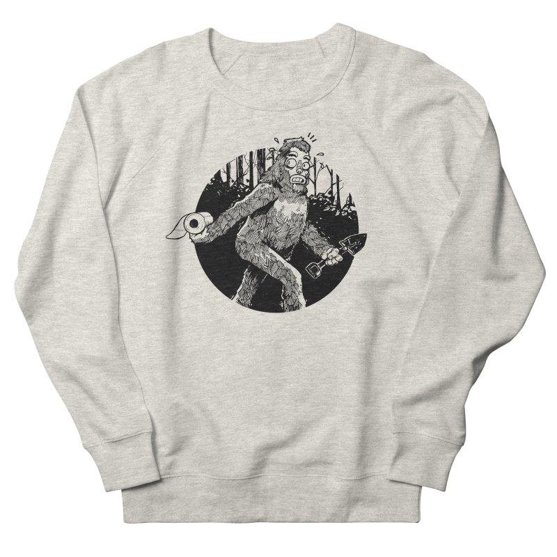 Sasquatch Secret Men's French Terry Sweatshirt by Kyle Ferrin's Artist Shop