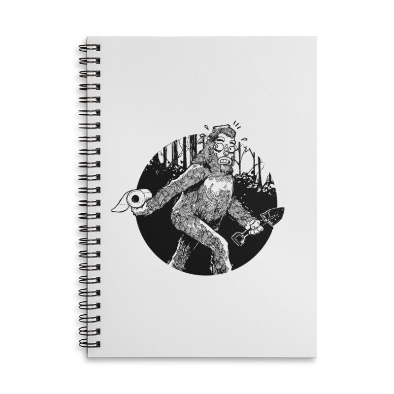 Sasquatch Secret Accessories Lined Spiral Notebook by Kyle Ferrin's Artist Shop