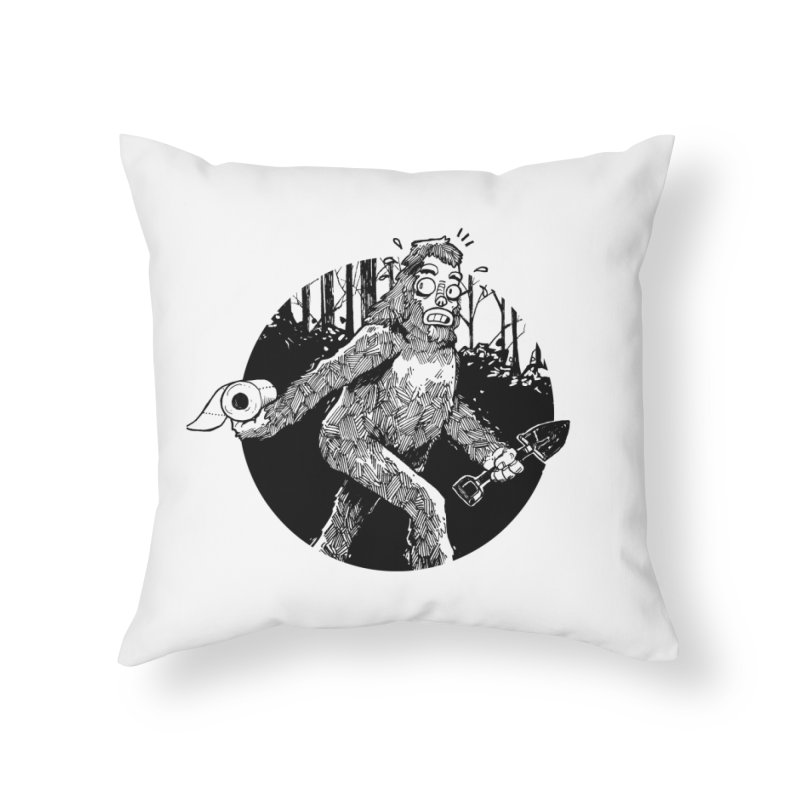 Sasquatch Secret Home Throw Pillow by Kyle Ferrin's Artist Shop