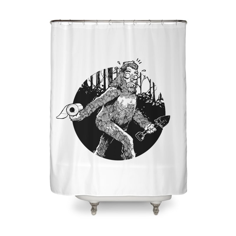 Sasquatch Secret Home Shower Curtain by Kyle Ferrin's Artist Shop