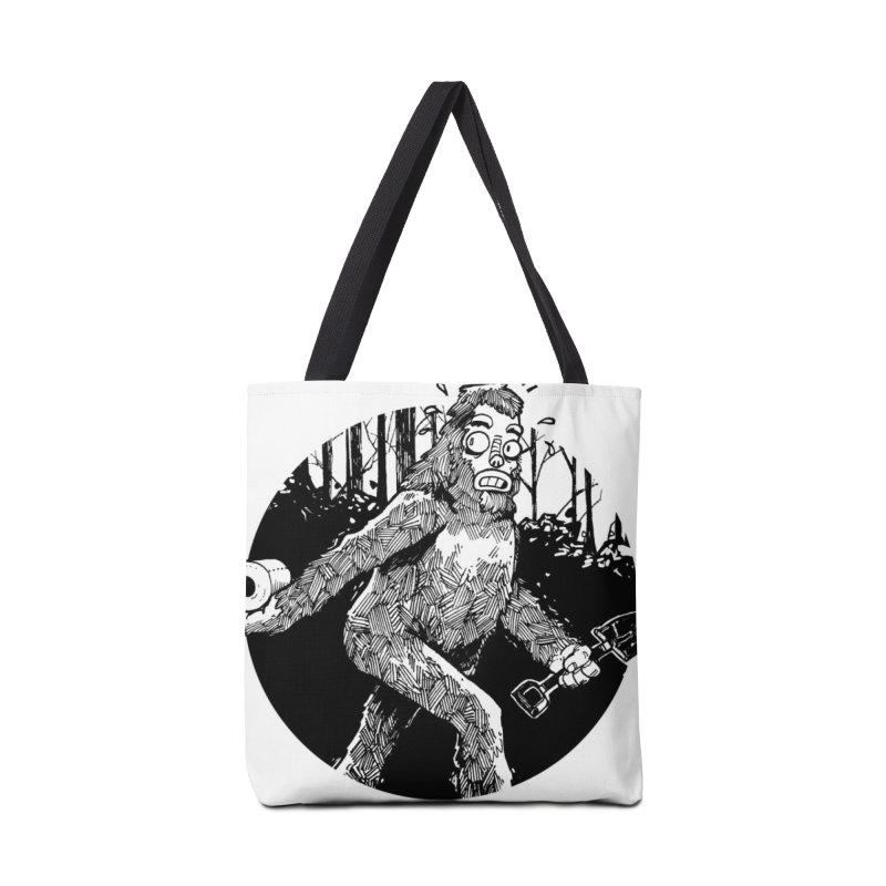 Sasquatch Secret Accessories Tote Bag Bag by Kyle Ferrin's Artist Shop