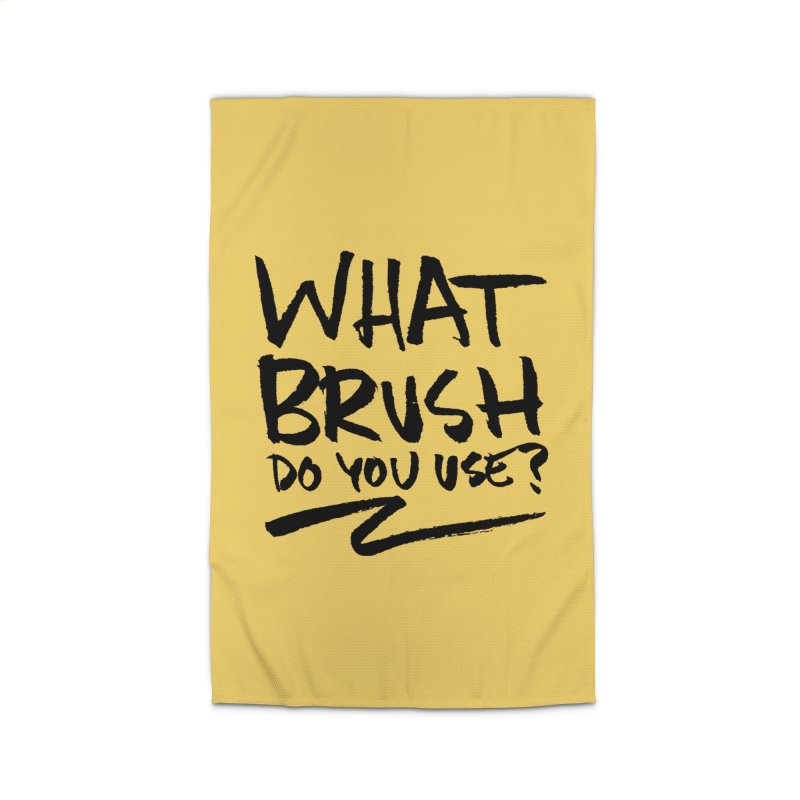 What Brush Do You Use? Home Rug by Kyle Ferrin's Artist Shop