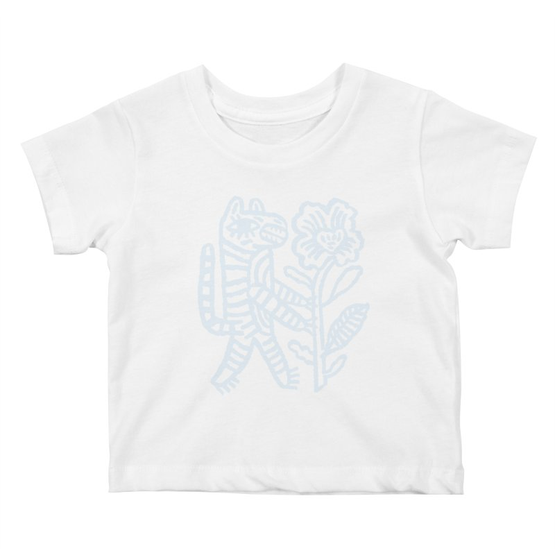 Special Delivery - Light Blue Kids Baby T-Shirt by Kyle Stecker Illustration