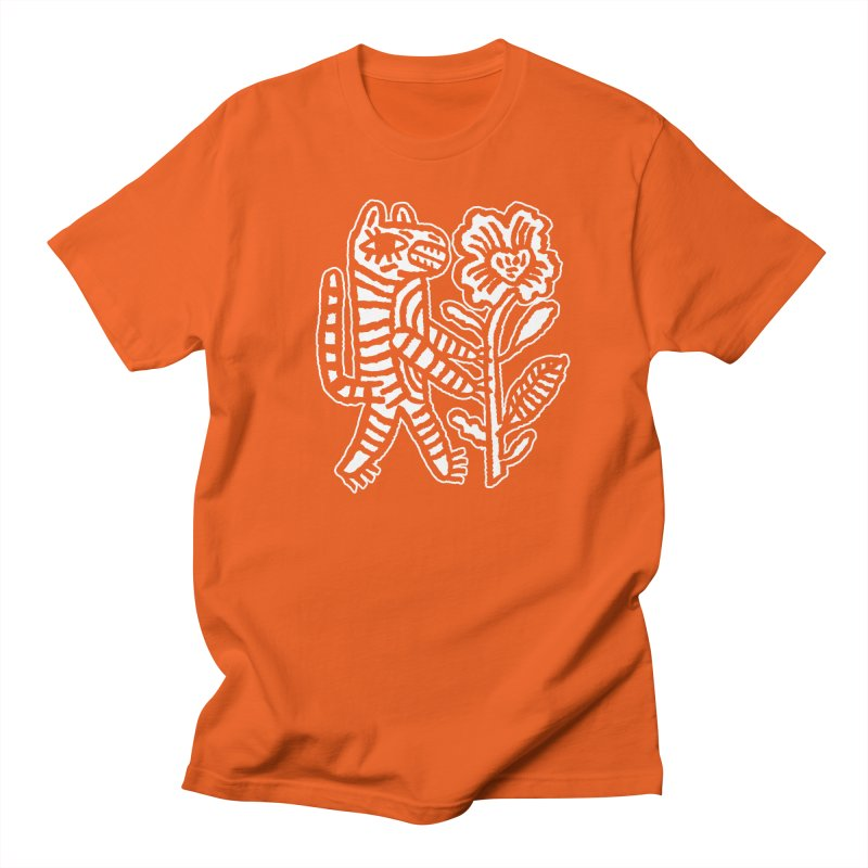 Special Delivery - White in Men's Regular T-Shirt Orange Poppy by Kyle Stecker Illustration