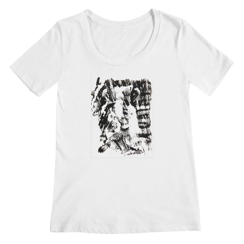 Mononoke Women's Regular Scoop Neck by kyon's Artist Shop