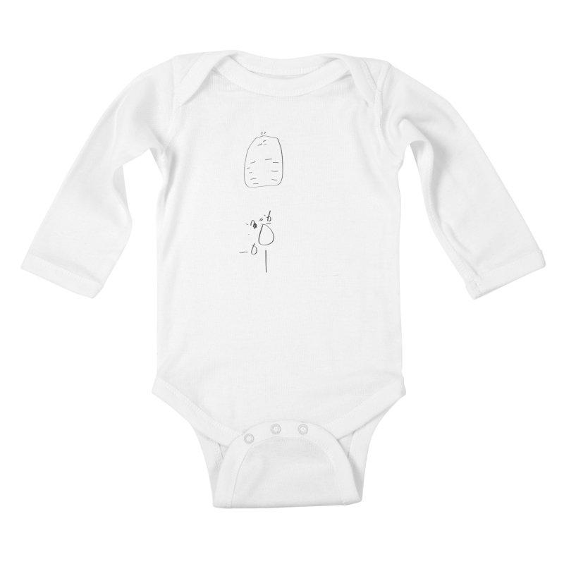 2 Kids Baby Longsleeve Bodysuit by kyon's Artist Shop