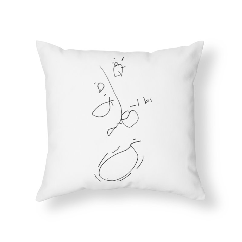 3 Home Throw Pillow by kyon's Artist Shop