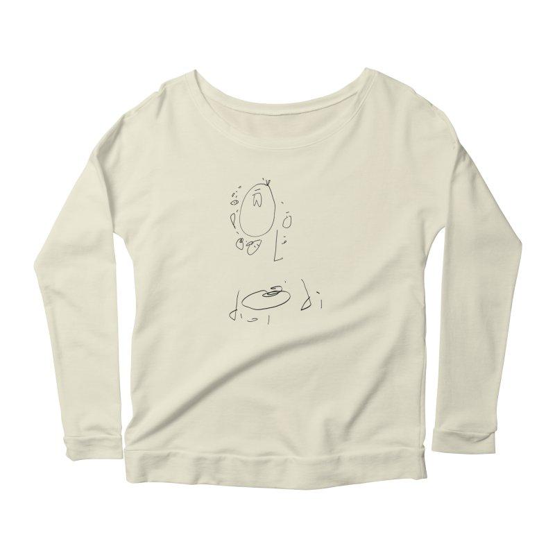 4 Women's Scoop Neck Longsleeve T-Shirt by kyon's Artist Shop