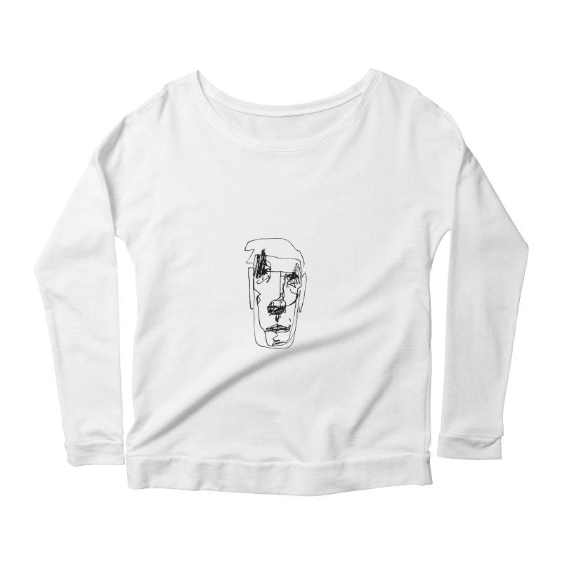 Face 2 Women's Longsleeve Scoopneck  by kyon's Artist Shop