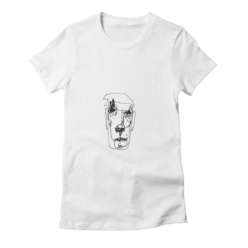 Face 2 Women's Fitted T-Shirt by kyon's Artist Shop