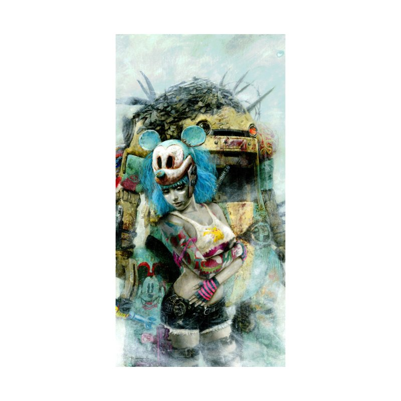 Romulo Royo - Mickey and The Robot Accessories Beach Towel by Laberinto Gris