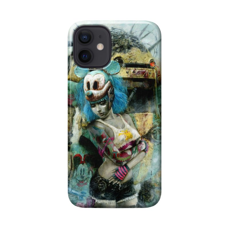 Romulo Royo - Mickey Mouse and The Robot Accessories Phone Case by Laberinto Gris