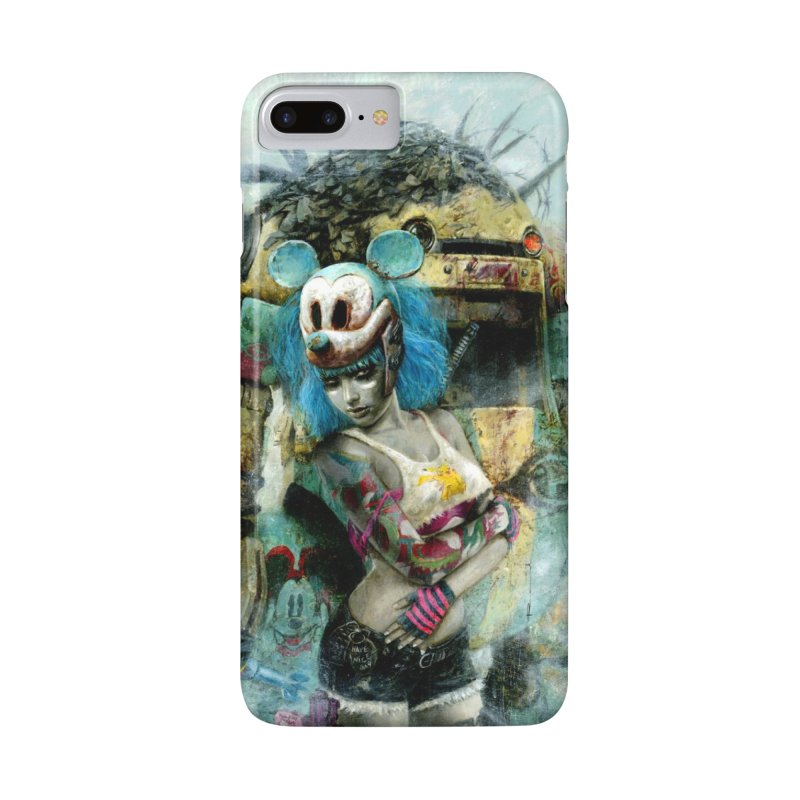 Romulo Royo - Mickey Mouse and The Robot in iPhone 8 Plus Phone Case Slim by Laberinto Gris