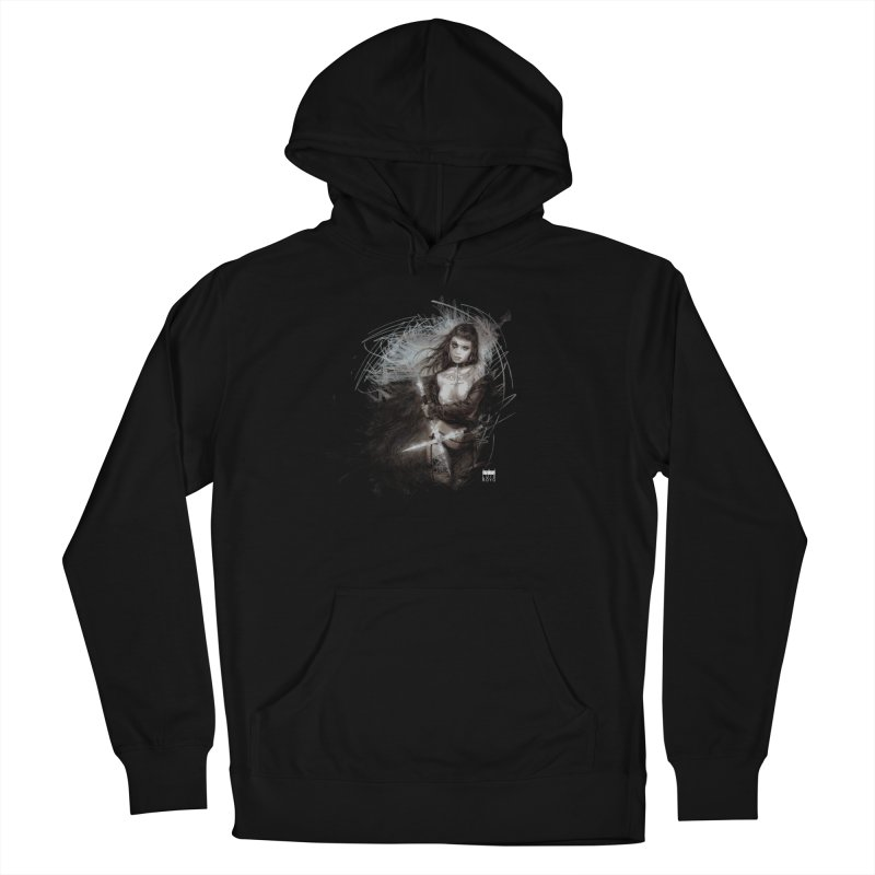 Luis Royo - Sword Fantasy Warrior Women's French Terry Pullover Hoody by Laberinto Gris