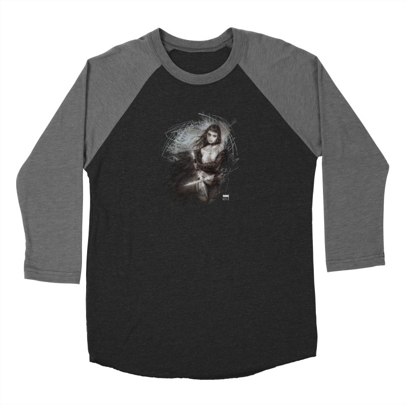 Luis Royo - Sword Fantasy Warrior Men's Baseball Triblend Longsleeve T-Shirt by Laberinto Gris