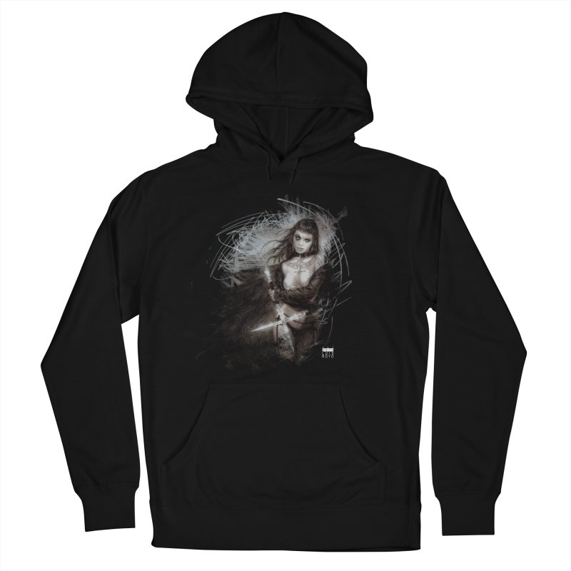 Luis Royo - Sword Fantasy Warrior Men's French Terry Pullover Hoody by Laberinto Gris