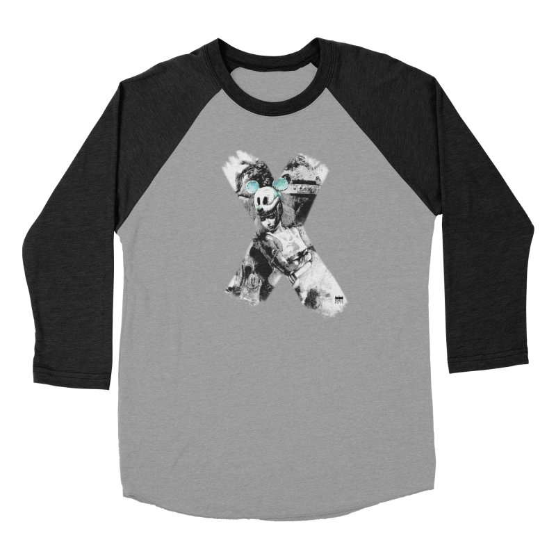 Romulo Royo - Mickey Mouse Exists Men's Baseball Triblend Longsleeve T-Shirt by Laberinto Gris