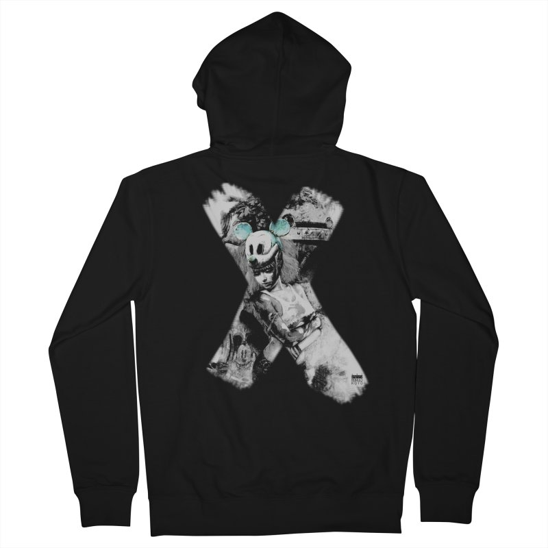 Romulo Royo - Mickey Mouse Exists Men's Zip-Up Hoody by Laberinto Gris