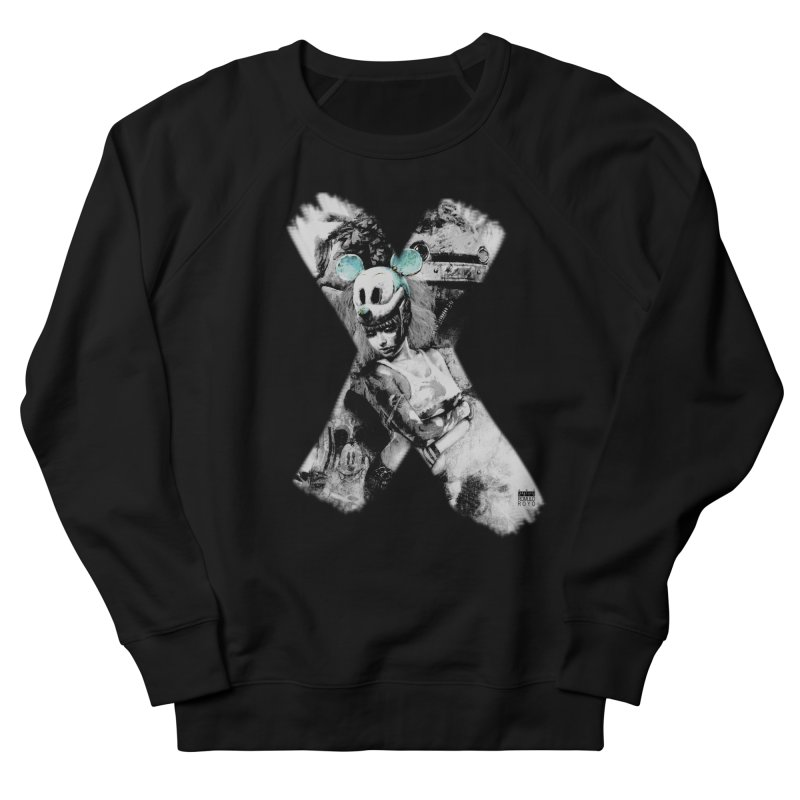 Romulo Royo - Mickey Mouse Exists Women's French Terry Sweatshirt by Laberinto Gris