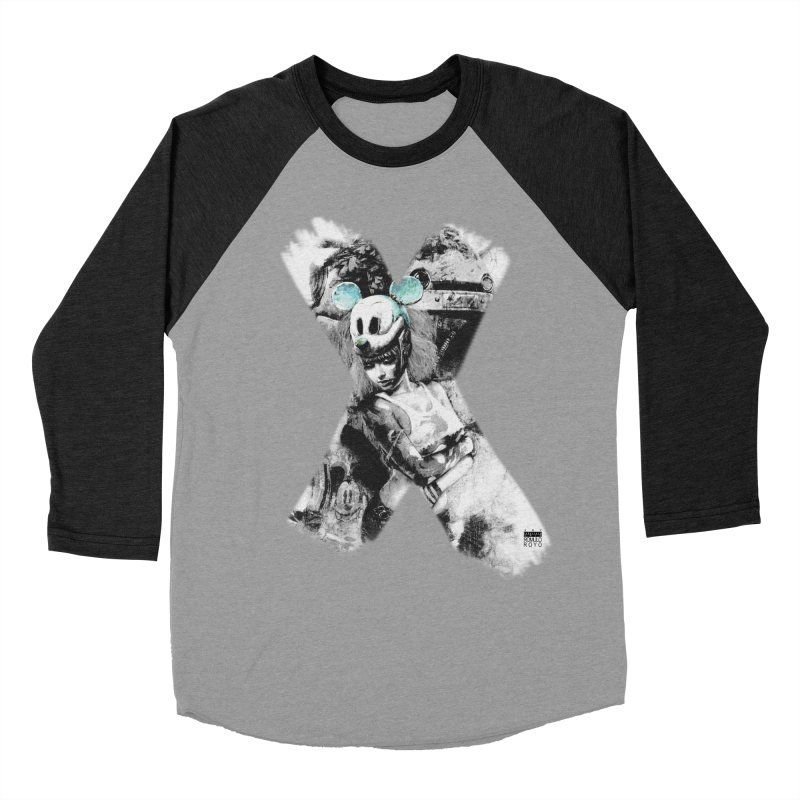 Romulo Royo - Mickey Mouse Exists Women's Baseball Triblend Longsleeve T-Shirt by Laberinto Gris
