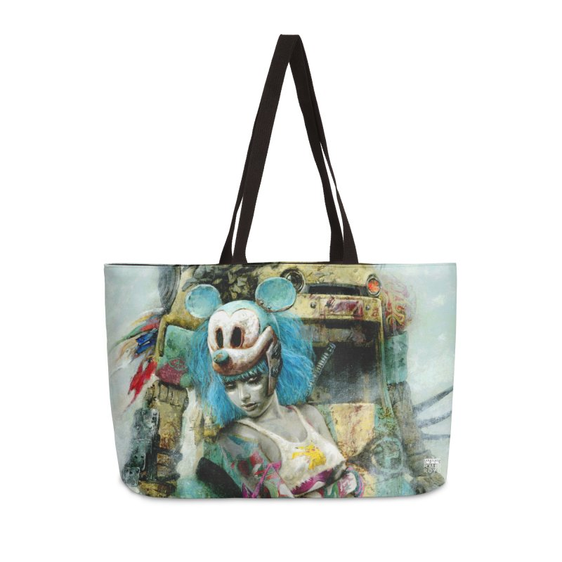 Romulo Royo - Mickey Mouse Exists Accessories Weekender Bag Bag by Laberinto Gris