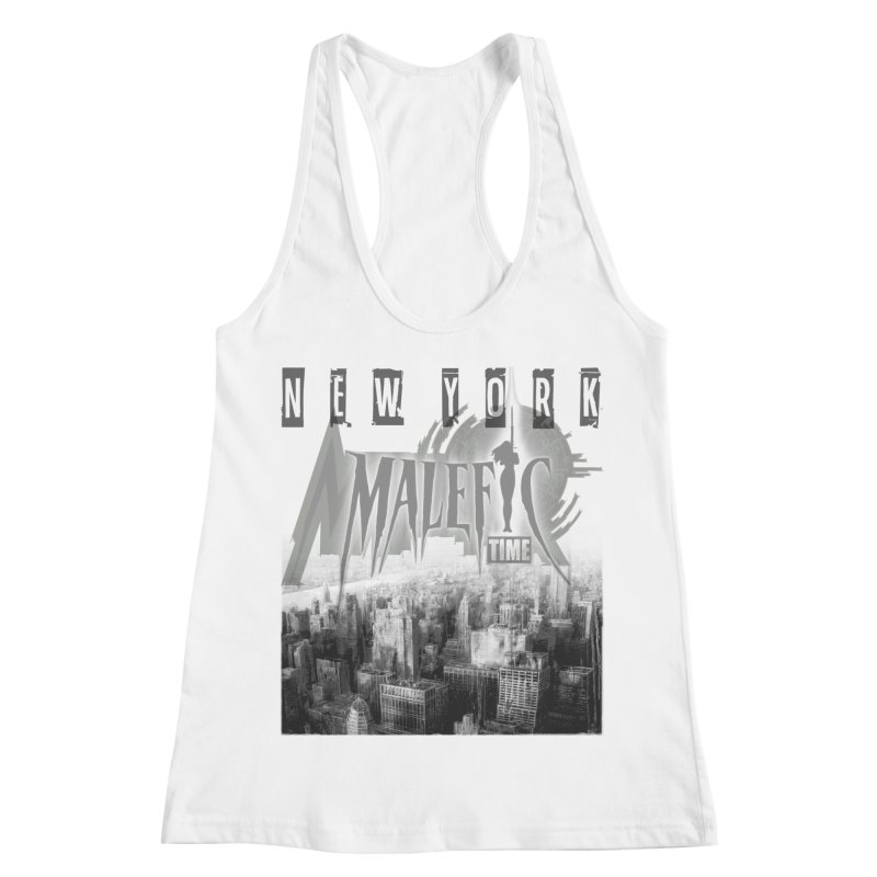 MALEFIC TIME - NEW YORK Women's Racerback Tank by Laberinto Gris