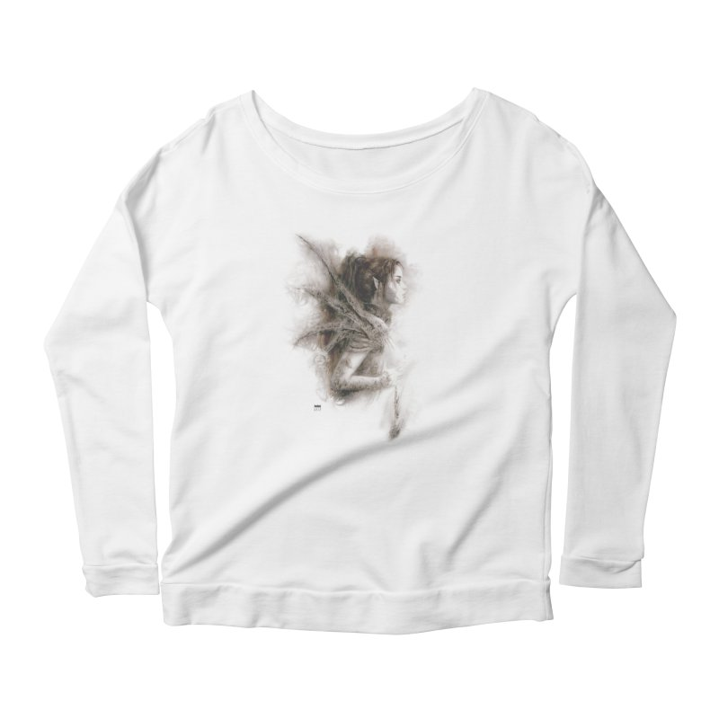 Luis Royo - Fairy Fantasy Women's Scoop Neck Longsleeve T-Shirt by Laberinto Gris