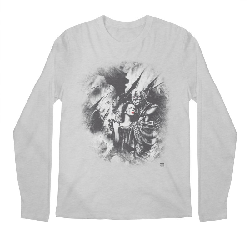 Luis Royo - Grey Over Greyer Grey Men's Regular Longsleeve T-Shirt by Laberinto Gris