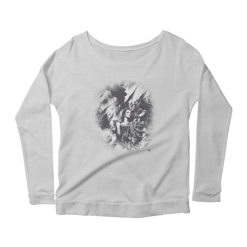 Luis Royo - Grey Over Greyer Grey Women's Scoop Neck Longsleeve T-Shirt by Laberinto Gris