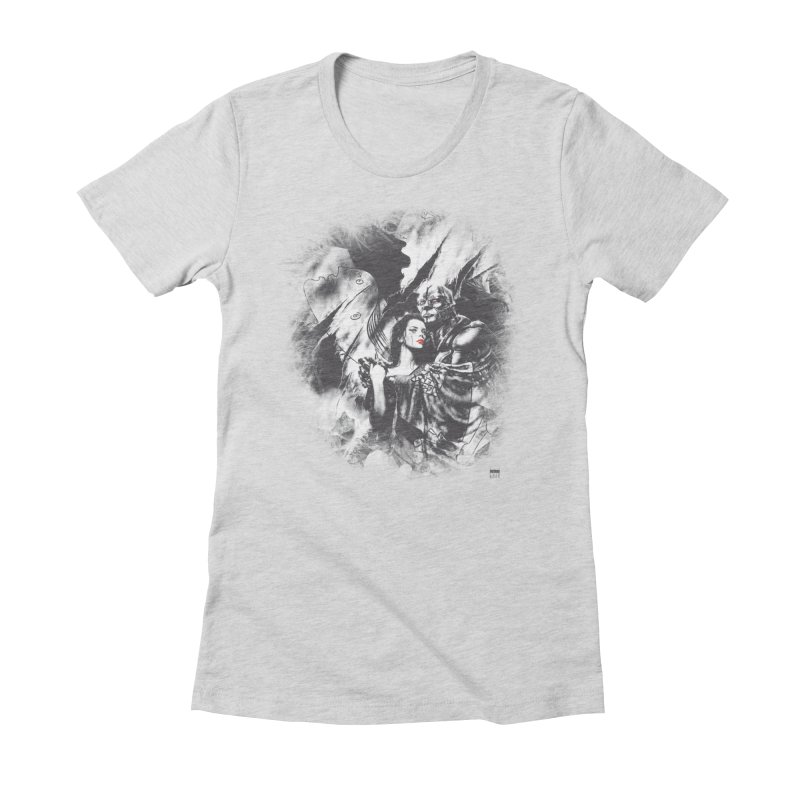 Luis Royo - Grey Over Greyer Grey Women's Fitted T-Shirt by Laberinto Gris