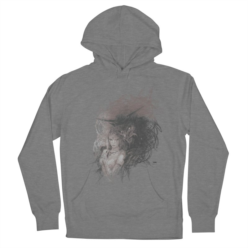 Luis Royo - New Secrets Men's French Terry Pullover Hoody by Laberinto Gris