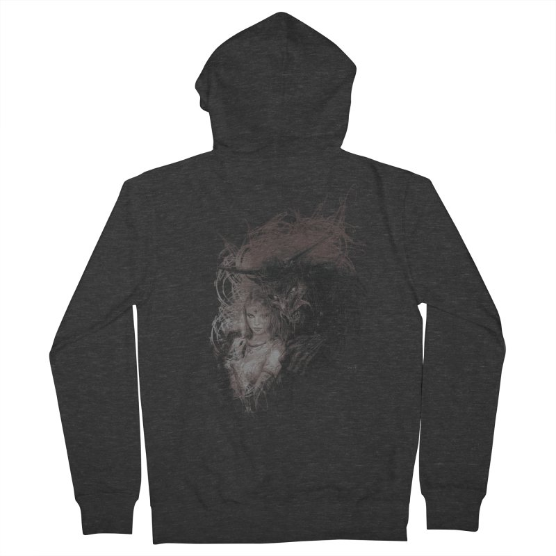 Luis Royo - New Secrets Men's French Terry Zip-Up Hoody by Laberinto Gris