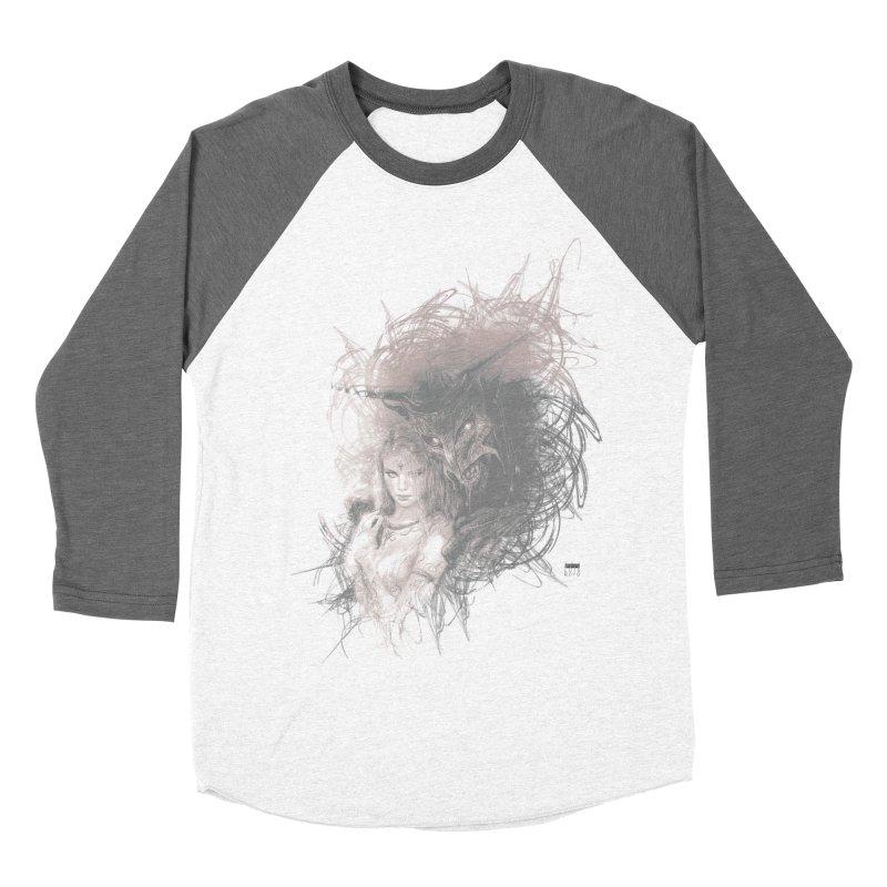 Luis Royo - New Secrets Men's Baseball Triblend Longsleeve T-Shirt by Laberinto Gris