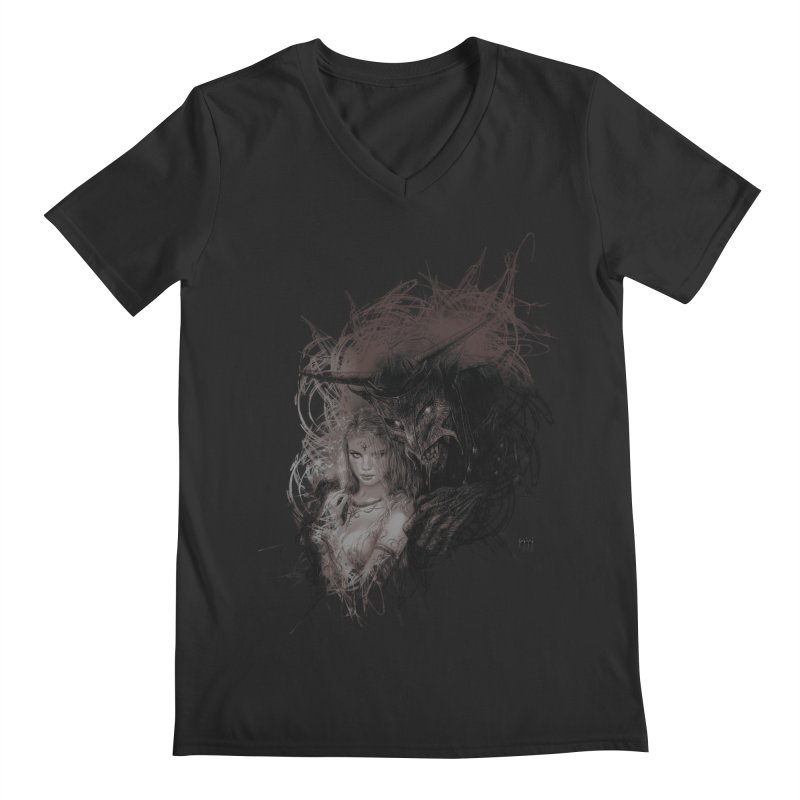 Luis Royo - New Secrets Men's Regular V-Neck by Laberinto Gris