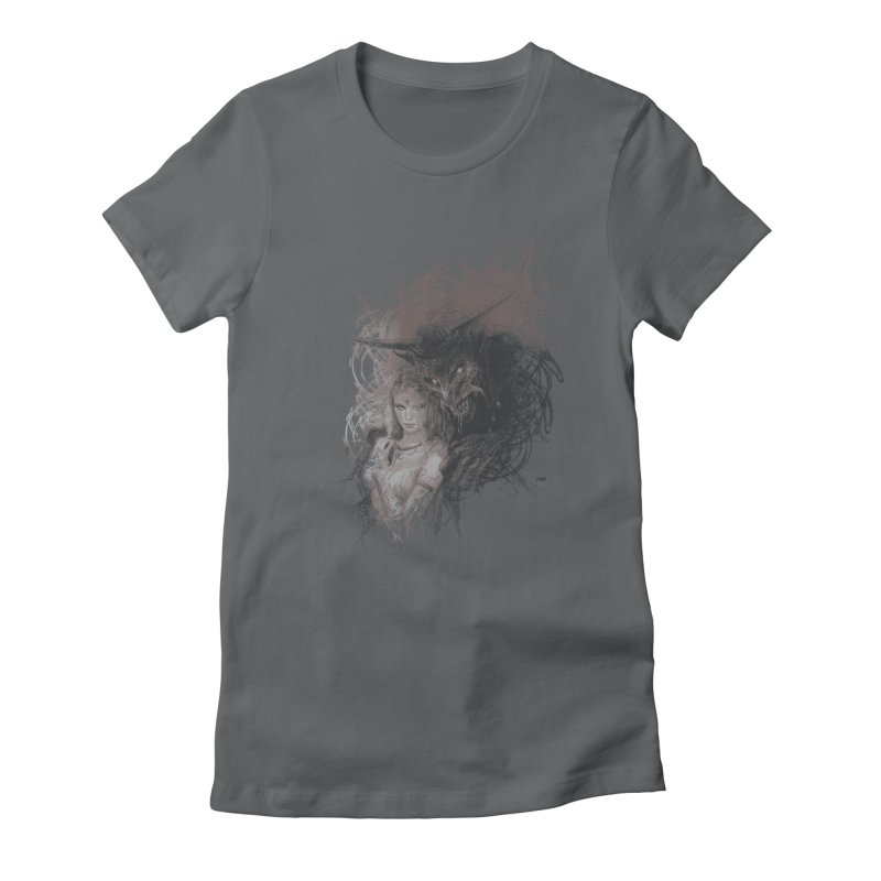 Luis Royo - New Secrets Women's Fitted T-Shirt by Laberinto Gris