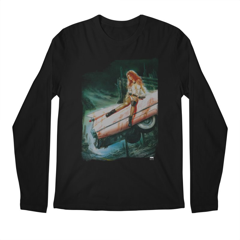 Luis Royo - Pink Cadillac Men's Regular Longsleeve T-Shirt by Laberinto Gris