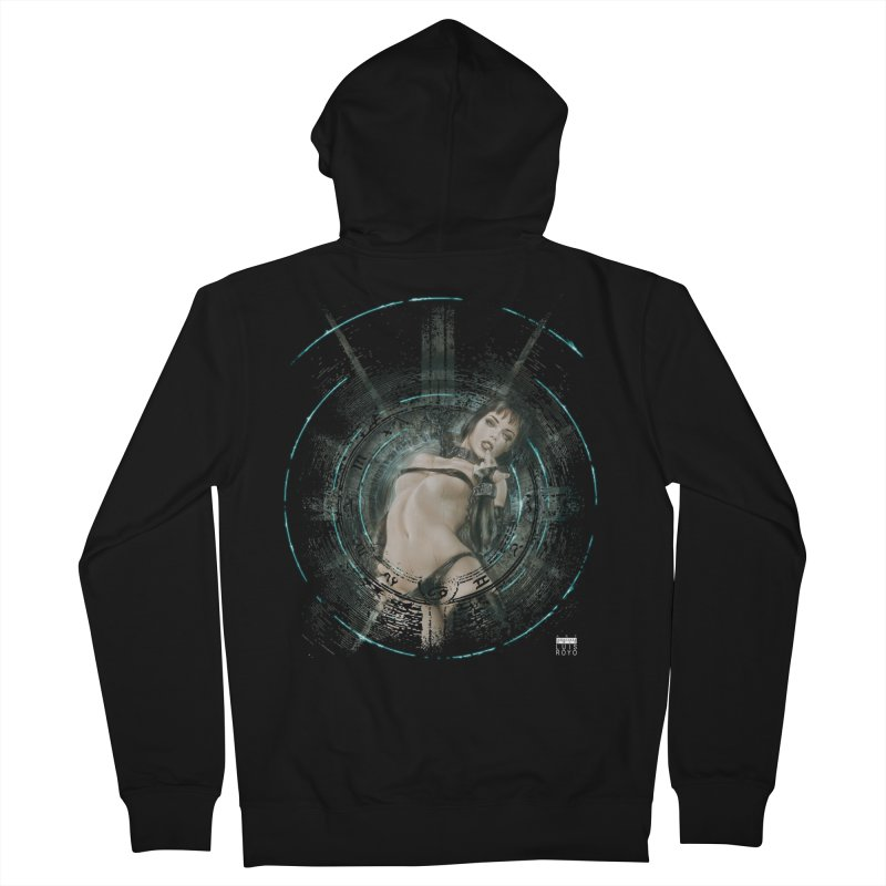 Luis Royo - Prohibited Men's French Terry Zip-Up Hoody by Laberinto Gris