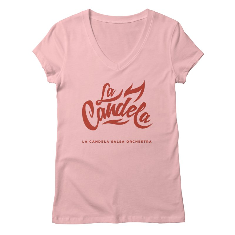 La Candela Red Label Women's V-Neck by La Candela Shop