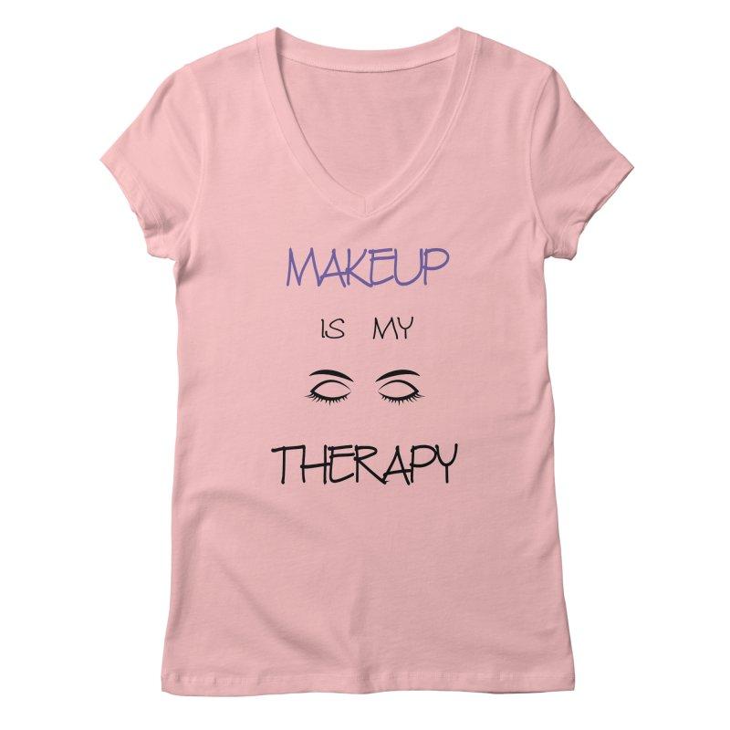 Makeup therapy Women's Regular V-Neck by BubaMara's Artist Shop