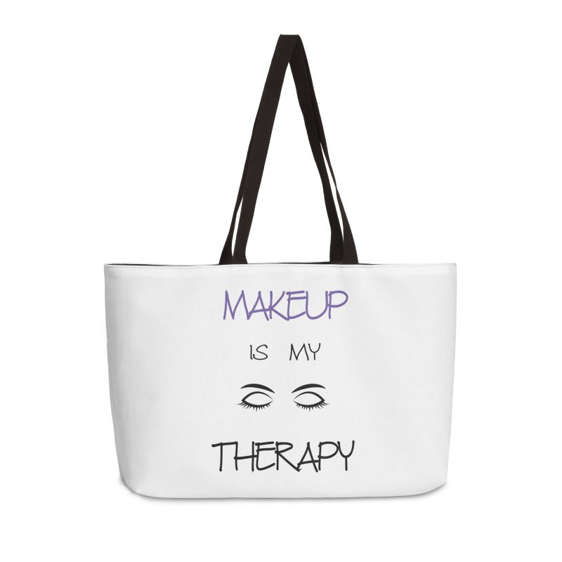 Makeup therapy Accessories Weekender Bag Bag by BubaMara's Artist Shop