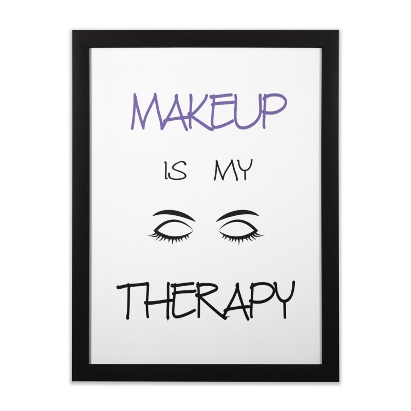 Makeup therapy Home Framed Fine Art Print by BubaMara's Artist Shop