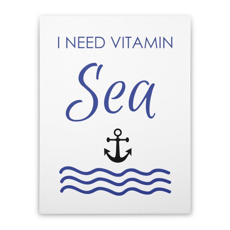 I need vitamin sea Home Stretched Canvas by BubaMara's Artist Shop