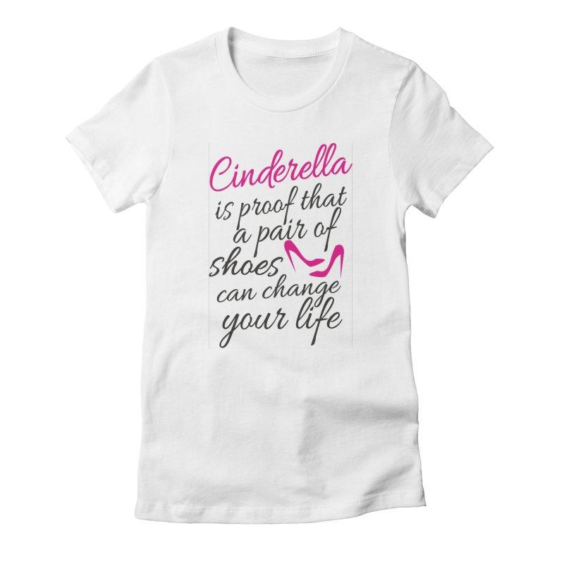 Cinderella Women's Fitted T-Shirt by BubaMara's Artist Shop