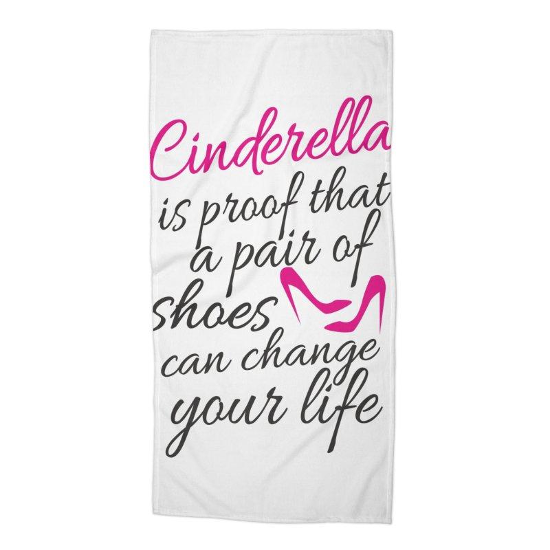 Cinderella Accessories Beach Towel by BubaMara's Artist Shop