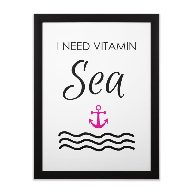 I need vitamin sea Home Framed Fine Art Print by BubaMara's Artist Shop