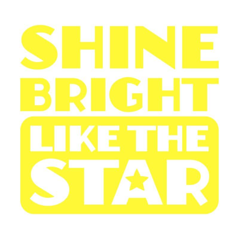 Shine Bright Like The Star Home Shower Curtain by BubaMara's Artist Shop